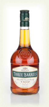Picture of THREE BARRELS VSOP FRENCH BRANDY 38% 1000ML